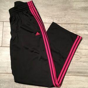 Adidas Sweatpants Women's Size Large Pink Stripe